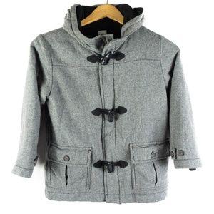✨3/$25✨Gymboree Grey Wool Blend Pea Coat - 5/6